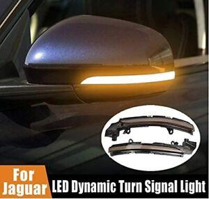 Jaguar XE XF XJ F-TYPE I-PACE Dynamic Turn Signal Light LED Side Indicator Pair