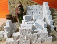 Krippenzubehör, Krippenbau, Ruinen Bausteine in neuem Format 50St.  3x1,5x1,5cm