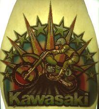 Original Kawasaki Motorcycle Full Glitter Iron On Transfer Motocross RARE!
