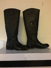 IN BOX TALL Dolce Vita Luela Boots- BROWN LEATHER- Size 9-Med- with low heel-WOW