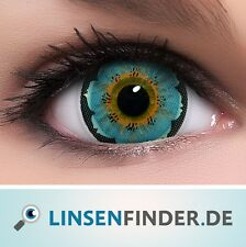 """Circle Lenses """"Lily Blue"""" Coloured Contacts Color Contact Lenses + Free Case"""