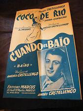 Spartito Coco Rio Castellengo Cuando el Baio Amedeo Music Sheet