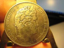 1847 FRANCE 5 FRANCS HIGH GRADE BIG SILVER COIN