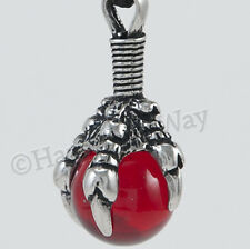 DRAGON CLAW Necklace RED POWER Sphere Pendant Orb Mars influence Protection