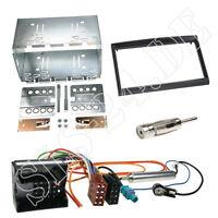 Peugeot 207 207CC 307 Doppel DIN Einbaurahmen Radioblende piano ISO Kabeladapter