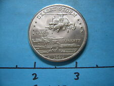 APACHE HELICOPTER 1991 DESERT STORM HUTT RIVER $5 COIN MEDALLION COOL Z-54
