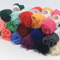 Lady Women long candy colors soft cotton Scarf Wrap Shawl scarves fashion stole