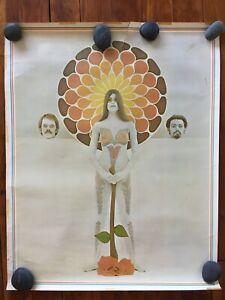 SUMMER OF LOVE Poster 1968 VT PAINTED NAKED HIPPY GIRL David Nordahl Don Getsug