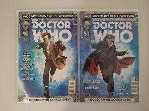 DOCTOR WHO #4 #5 (Titan, Nov Dec 2016) Supremacy of the Cybermen lot Cover A (1B