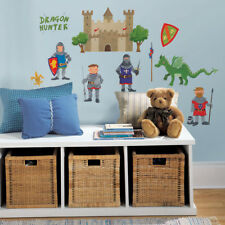 RoomMates Children's Knight Wall Stickers, Kids Bedroom Wall Decals, Boy Decals