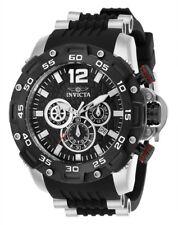 Nuevo Invicta 26403 Hombre pro Diver Negro Poli Banda Acero Estuche Reloj de