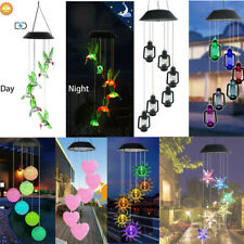 Solar Powered LED Wind Chimes Home Garden Yard Decor Light Lamp Color Changing