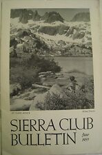 SIERRA CLUB BULLETIN: June 1955, VOL 40 #6 at Lake Ediza