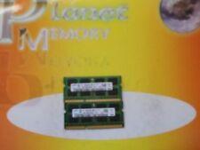 Memoria RAM Samsung velocità bus PC3-8500 (DDR3-1066) per prodotti informatici da 2 moduli