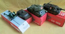 T34+SU100 WW2 Tanks USSR Military Scale 1:43 Models+BS3 Artil Gun+Scout Car/Boxs