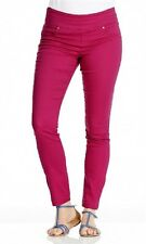 Ladies Nice And Stretchy - Slim Coloured Jeggings Size 10 Bright Pink