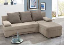 Ecksofa 191x142cm schlamm Mikrofaser Schlafsofa Couch Sofa Polsterecke Pollux