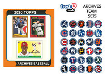 2020 Topps Archives Team Set Pre-Sale St Louis Cardinals Flaherty Checklist TBD
