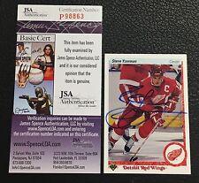 HOF STEVE YZERMAN 1990-91 UPPER DECK SIGNED AUTOGRAPHED CARD #56 JSA CERTIFIED