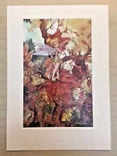 The Art of Disney Autumn Breezes Tinkerbell by David Whitaker Print 5x7 Trees RR