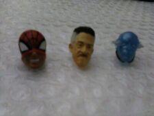 Marvel Legends Spiderman(Pizza)/ J. Jonah Jameson(MCU)/Elektro  Head Fodder LOT