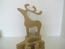 Wooden Reindeer Freestanding 18mm Thick Large
