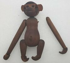 RARE Mid-Century Danish modern articulated wood toy Monkey not signed broken