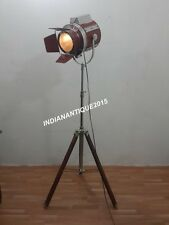 VINTAGE THEATER SPOT LIGHT FLOOR LAMP SEARCHLIGHT WITH TRIPOD STAND