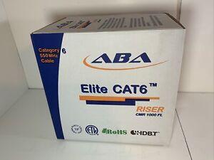 Elite CAT6e Communication Cable Plenum Cmp 1000ft 23AWG X 4P (Blue)