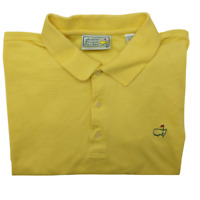 Augusta National Masters Men's XL Yellow Performance Golf Polo Cotton