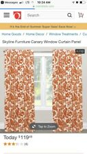 Skyline Furniture Canary Tangerine Window Panel Curtains