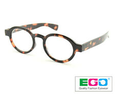 EGO Round Oval Tortoise Keyhole Reader Vintage Classic Reading Glasses +2.00