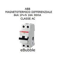ABB DS1C16AC30 INTERRUTTORE MAGNETOTERMICO DIFFERENZIALE 6kA 1P+N 16A 30mA AC