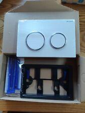 Geberit Omega Duo Flush Plate White/gloss Chrome/white Buttons