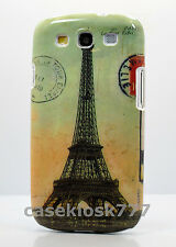 for Samsung galaxy i9300 s3 S III hard case Paris Eiffel souvenir post card