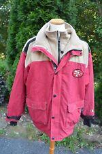 SAN FRANCISCO 49ers Men's Sz: 2XL Zip-Up Nylon Red/Gold Jacket/Coat by Champion