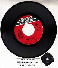 "SIMON AND GARFUNKEL  The Boxer & Baby Driver 7"" 45 record NEW + juke box strip"