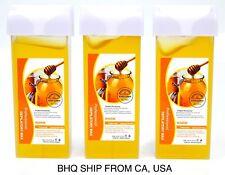 Roll On Hot Depilatory Wax Cartridge Warmer Honey Heater Waxing Hair Removal 3PC