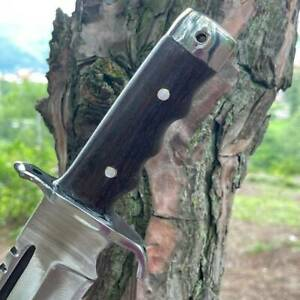 """18"""" RAMBO KNIFE, CLEAVE, MATCHATE, BOWIE KNIFE, OUTDOOR KNIFE, WITH SADAN WOOD"""