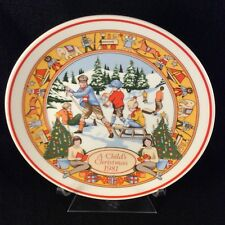 Wedgwood A Child's Christmas 1981 Collectors Plate (Third in Series)