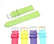 Pastel Coloured Mens Ladies High Quality Soft Leather Watch Band Strap 6mm-22mm
