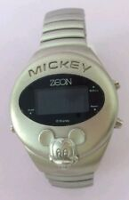 BNWOT RARE OFFICIAL DISNEY ZEON 3-D MICKEY MOUSE DIGITAL LCD WATCH EX DISPLAY