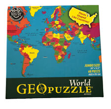 2009 World Geo Puzzle - Geo Toys Geography Countries Ages 4+ (68 pcs) Complete