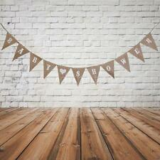 Rustic Shabby BABY SHOWER Hessian Burlap Bunting Flags Banner Party Decor