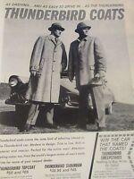 "1955 Thunderbird Coat Original Print Ad 1955 Thunderbird 9 x 11 """