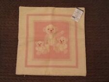 housse coussin 40x40 MADURA NEUF ! Motif ours rose