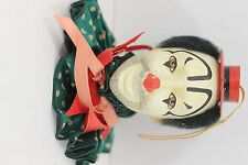 Vintage Clown Head Ornament-Plaster Ceramic-VERY NICE HAND PAINTED!!