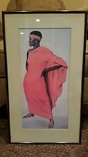"Cal Massey ""The Ashanti Woman"" Framed Autographed Print"