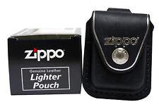 Zippo lighter pouch LPLBK w/loop black leather NEW