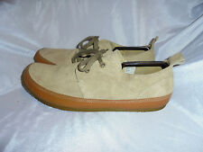 "HUSH PUPPIES ""SOMME"" MEN'S BEIGE SUEDE LEATHER LACE UP SHOE SIZE UK 10 EU 44 VGC"
